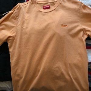 Supreme orange cream long sleeve shirt